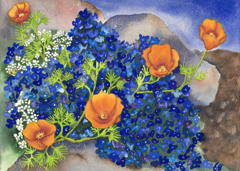 """""""NATURE'S PALETTE""""  Original Watercolor by Emilee Reed"""