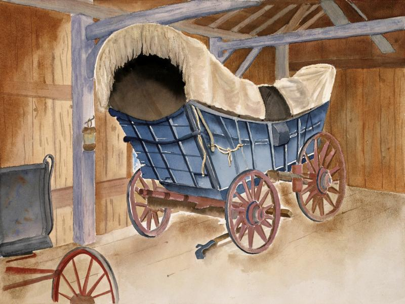 """CONESTOGA WAGON""  Original Watercolor by Emilee Reed"
